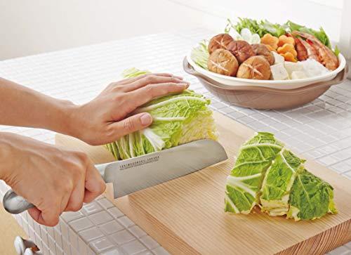 貝印菜切り包丁シルバー刃渡り:約16.5cm関孫六-桜オールステンレス323696
