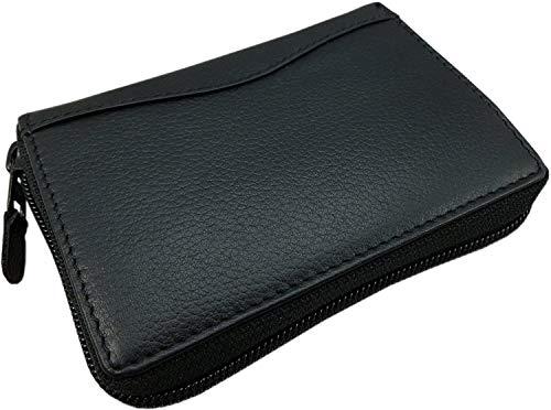 Vacchetta porta carte di credito e portafoglio in nero