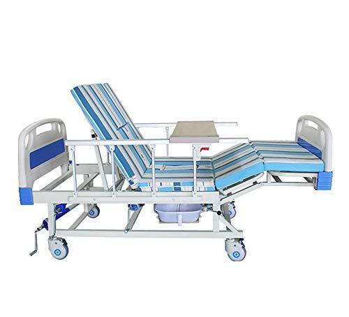 Pflegeheim-Pflegebett Des Heimgebrauch-Altenpflege Justierbaren Mit Toilette, Manuelle Hauspflege-Medizinische Geräte Krankenhaus-Bett