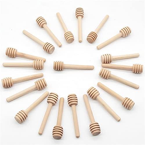 Mini cuchara de madera para miel - 8 cm, palitos pequeños de...