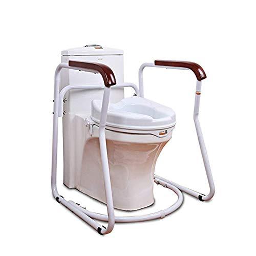 Cuarto de baño WC Marco de Seguridad del Marco de Seguridad ferroviaria con Mango de Madera sólida for Ancianos, el Apoyo Sanitario de Seguridad Deluxe