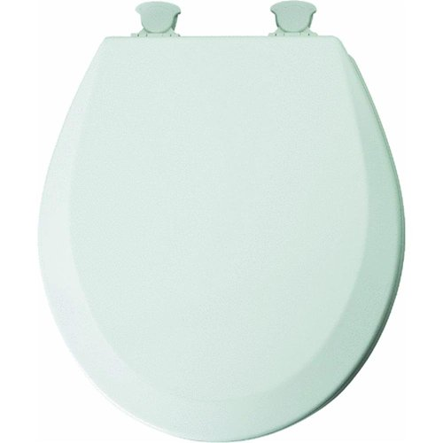 Mayfair 46EC 000 Molded Wood Toilet Seat with Lift-Off Hinges, Round, White