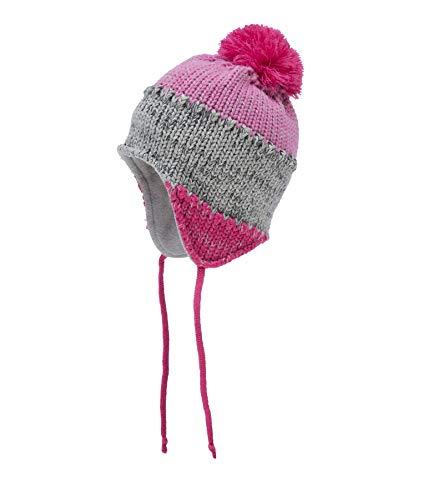 Döll Mädchen Inka Bindemütze Strick Mütze, Rosa (Raspberry Sorbet|Pink 2210), (Herstellergröße: 55)
