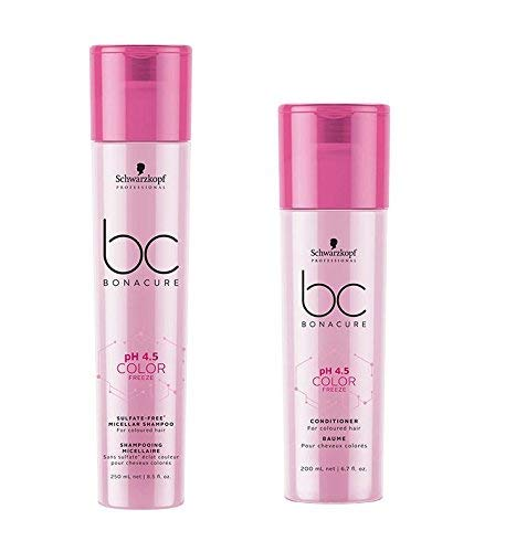 Schwarzkopf Bonacure PH 4.5 Color Freeze Micellar sulfaatvrije shampoo 250 ml & conditioner 200 ml