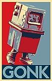 Star Wars GONK Power Droid Illustration - Clone Wars Sci-fi Cartoon Film Pop Art Movie Home Decor Poster Print (11x17 inches)