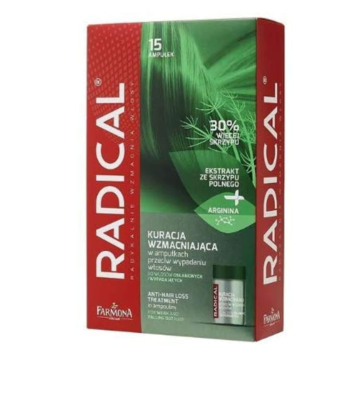 Farmona Radical Strenghtening Anti Hair Loss Treatment in Ampoules for Weak and Falling Out Hair 15 x 5 ml r6952484991