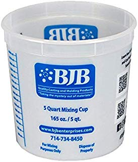 Plastic Mixing Cup - Box of (100) 5-Quart Size - Ideal for Resins, Paint, Epoxy, Casting Polyurethane, Foam, Silicone, and much more!