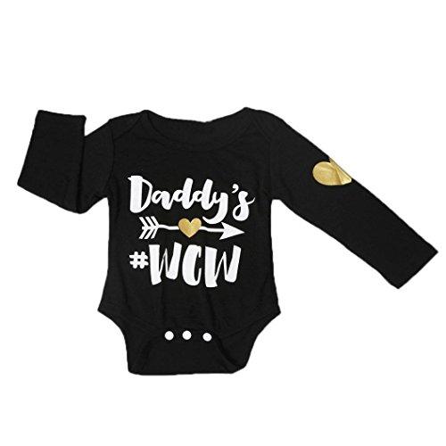 kingko® Newborn Infant enfants de fille de bébé manches longues Romper Jumpsuit Bodysuit Outfit Vêtements (24M)