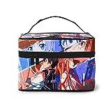 Sword Art Online - Bolsa de cosméticos para mujer con cremallera multifunción (9 x 6.7 x 6.2 pulgadas)