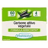 Vitarmonyl CARBONE ATTIVO VEGETALE • Integratore 4 Confezioni da 60 capsule • Registrato Ministero Salute Italiano