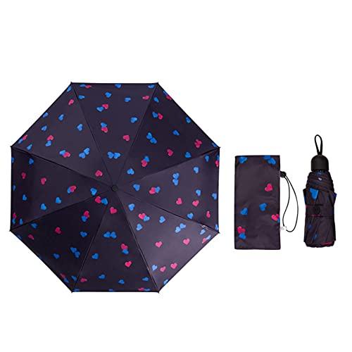 ShenMiDeTieChui Fällbart paraply, hopfällbart paraply Med automatisk öppning stängning, lätt vattentät hållbar Stark automatisk reseparaply, halkfritt handtag Med vattenabsorberande väska (Color : 2)