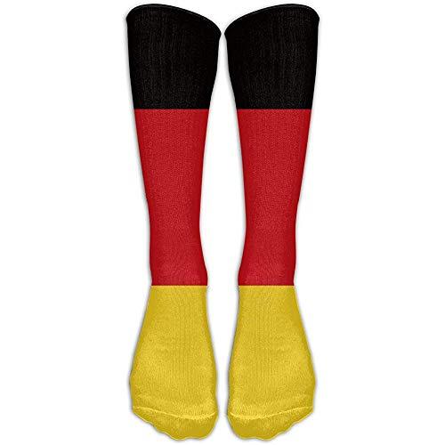 NA Lanfong Unisex Duitsland Federal Flag-01 kniehoge lange sokken Athletic Sports Tube voor mannen & vrouwen hardlopen, voetbal