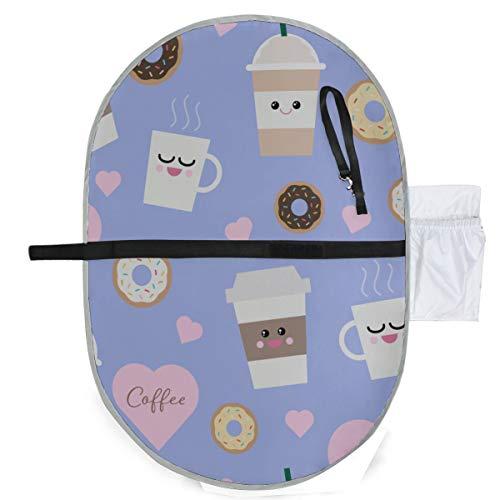Baby Portable Pad Wasserdichtes faltbares Muster Kawaii Kaffeetassen Windelmatte Reisematte Bequemes Aufhängen