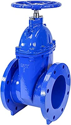 """IrrigationKing RKT8 8"""" Cast Iron Gate Valve with Rubber Wedge by IrrigationKing -"""