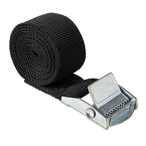 Correa de trinquete MoreChioce, correas de amarre de carga máxima de 150 kg con hebilla de leva de carga de 26 mm x 6 m, correas de apriete para portabicicletas, motocicleta, coche, color negro