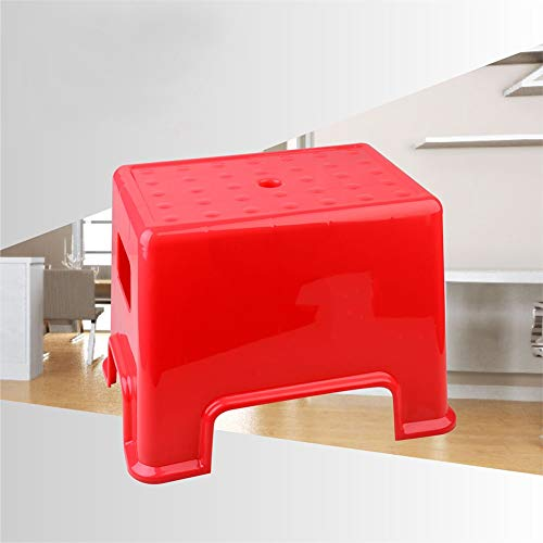 Tabouret en Plastique épaissie Type Simple ménage ménager Petit Banc Tabouret de Table à Langer Changer de Banc de Chaussure (Color : Red)