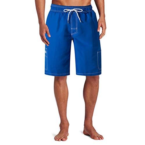 ELECTRI Pantalon de Plage pour Homme Short de Bain pour Homme Maillot de Bain avec Poche Séchage Rapide Short de Plage pour Vacance Piscine