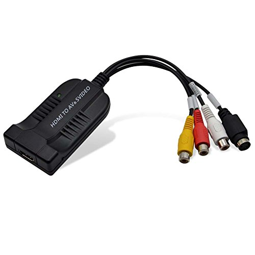 HDMI to AV CVBS S-video Converter Adapter Composite Multimedia Interface1080P Video Converter Box for HDTV with AV Svideo Cable