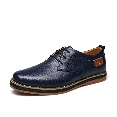 Alexis Leroy Men's Casual Oxfords Leather Shoes Blue 44 M EU / 10-10.5 D(M) US
