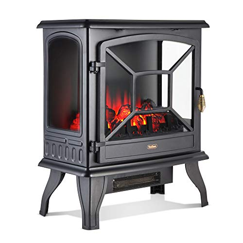 VonHaus Panoramic Electric Stove Heater – 1800W Fireplace with LED...