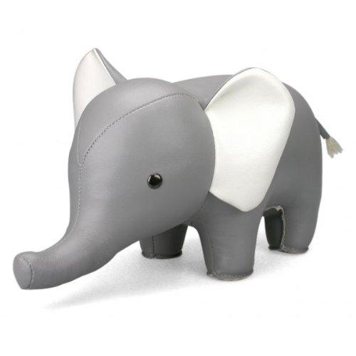 Züny - Elefant, libro supporto/fermaporta, grigio