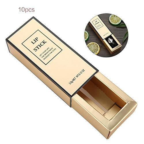 Lippenstift papieren doos, 10 stuks papieren doos DIY handgemaakte lippenstift materiaal lip tube verpakking lege doos