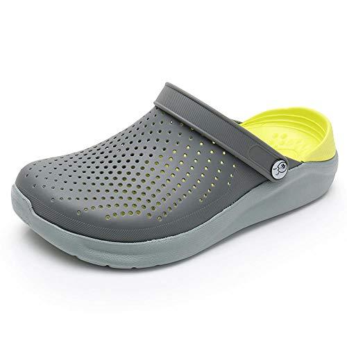 Flip Flops Herren Sommer Herren Crocks Schuhe Clogs Sandalen Eva Leichte Strandpantoffeln Für Männer Frauen Unisex Garden Crocse Schuh Flip Flop Gary Yellow 40