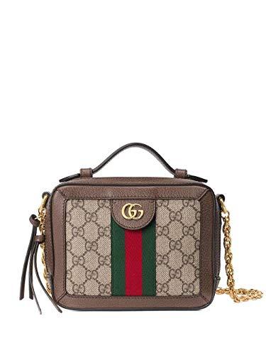 Luxury Fashion | Gucci Dames 602576K05NB8745 Bruin Leer Schoudertassen | Seizoen Permanent