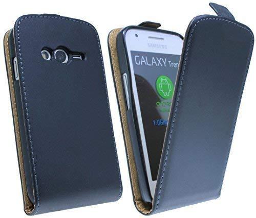 ENERGMiX Klapptasche Schutztasche kompatibel mit Samsung Galaxy Trend 2 LITE G318H in Schwarz Tasche Hülle