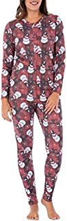 Fruit of the Loom Women's ChristmasRibbed Thermal Underwear Union Suit