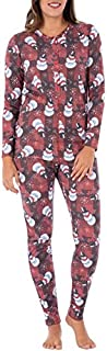 Fruit of the Loom Women's ChristmasRibbed Union Suit