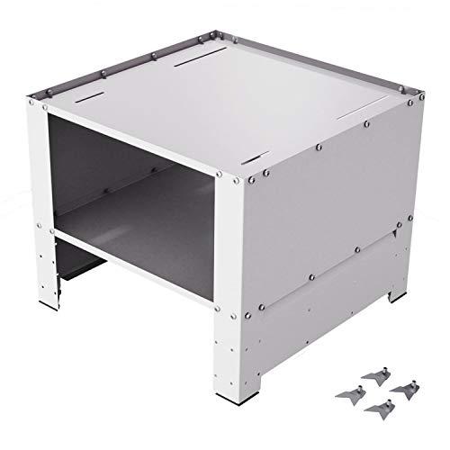 Magnet LTD Waschmaschinenuntergestell | 61 x 61cm | kompatibel auch mit Trockner und Kühlschränken | stabiler Unterbausockel mit höhenverstellbarem Bodenfach | robuste Konstruktion (WP-2) weiß