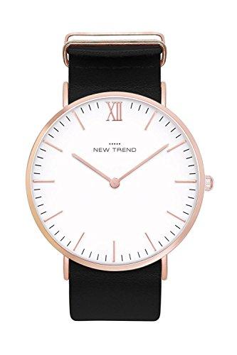 Damenuhr Armbanduhr Trenduhr Farben Rosegold Rose Gold + verschiedene Armbandfarben Beige Braun...