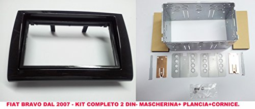 Façade d'autoradio en kit de montage 2 DIN pour Fiat Bravo à partir de 2007, kit complet pour autoradio à encastrer