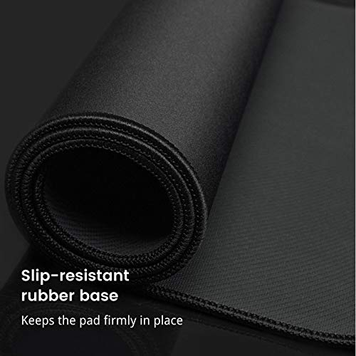 """Gaming Mouse Pad,Upgraded Ergonomic Larger Extended Gaming Mouse Pad with Durable Stitched Edge,Waterproof Non-Slip Base,Best Gaming Mouse Pad for Gamer, Computer,Laptop, 31.5""""x15.7""""x0.12"""", Black Photo #3"""