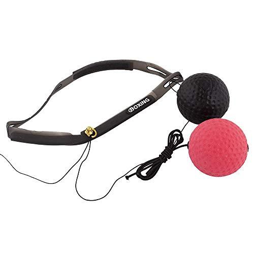 Calma Dragon Boxing Speedball MKHPB06, Balón de Entrenamiento para Fitness, Incluye 2 Bolas de Velocidad con Banda para la Cabeza, Deporte, Pelota de Boxeo Tailandesa, Punching Ball