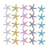Vosarea 25 Piezas Estrella de Mar Decoración Mediterránea de Boda Adorno Náutico para Mesa Acuario Pecera Proyecto de Manualidades Artesanía