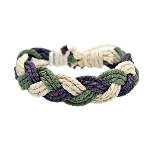 Pulsera Brazalete, Joyeria Regalo, Natural Cotton and Linen Color Bracelet Handmade Jewelry Dropshipping #FY109 FY110