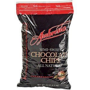 Ambrosia Semi-Sweet Chocolate Chips - 10lbs