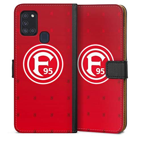 DeinDesign Klapphülle kompatibel mit Samsung Galaxy A21s Handyhülle aus Leder schwarz Flip Case Fortuna Düsseldorf Trikot F95