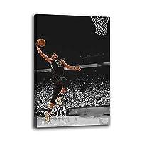 バスケットボール選手ヤニス・アデトクンポポスターキャンバス絵画寝室リビングキッズルームウォールアート子供部屋家の装飾40x60cm(16x24inch)内枠