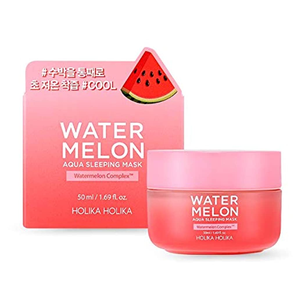 流星商業のセマフォホリカホリカ ウォーターメロンアクアスリーピングパック 50ml / HOLIKA Watermelon Aqua Sleeping Mask 韓国コスメ [並行輸入品]