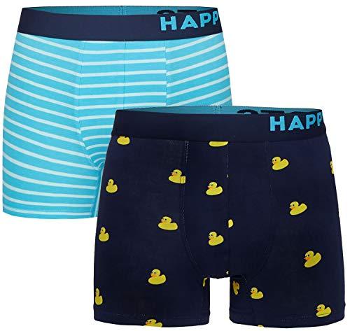 Happy Shorts 2 Pants Jersey Trunk Herren Boxershorts Boxer witzige Designs D30, Grösse:S - 4-48, Farbe:Design 030