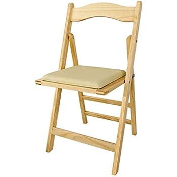 SoBuy® Sillla plegable, silla, sillla de madera, silla de cocina, silla de comedor, color: natural, FST06-N: Amazon.es: Hogar