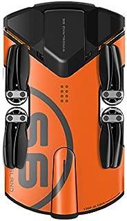 WINGSLAND WingsLand 4K Camera Live Video Foldable Pocket Size WINGSLAND S6 Air Selfie Drone, Black Orange, Ultra-Compact (S6)