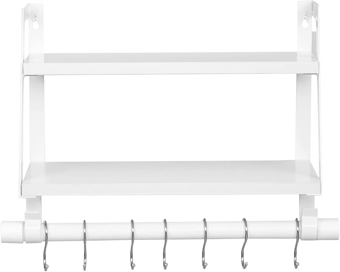 YZX White Wall Shelves Wood Storage Max 85% OFF She Tier Floating 2 Super intense SALE