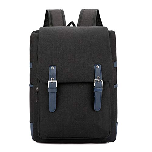 ZEHYRFGK Laptop Rucksack Für Damen Herren - School College Taschen, Leichter Business Travel Work Daypack - Diebstahlsicher/Wasserdicht/Langlebig,Schwarz