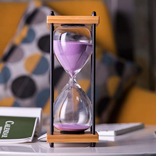 ZZBB Reloj De Arena Temporizador,30 Minutos Temporizador de Reloj,Reloj de Arena para Niños Lavado Dientes,Reloj Temporizador De Arena Hogar Ornamento Escritorio De Oficina Reloj De Arena