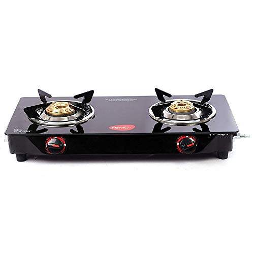 Pigeon by Stoverkraft Stainless Steel Aster 2 Burner Glass Cook...