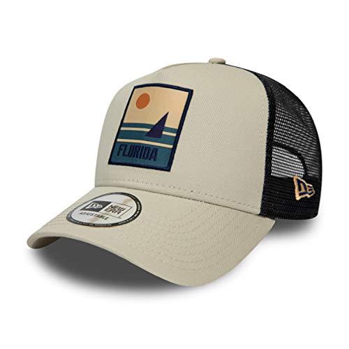 New Era Florida Cap Verstellbar Trucker Kappe Sommer Patch Usa Beige - One-Size
